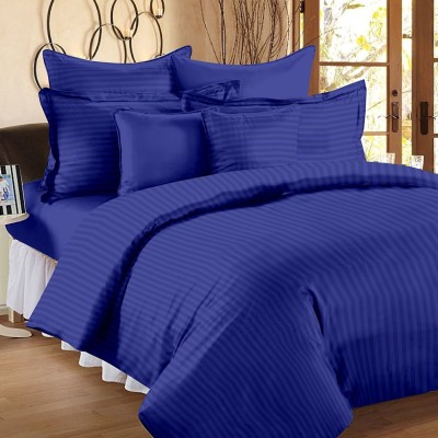 Craftola Cotton Striped King sized Double Bedsheet