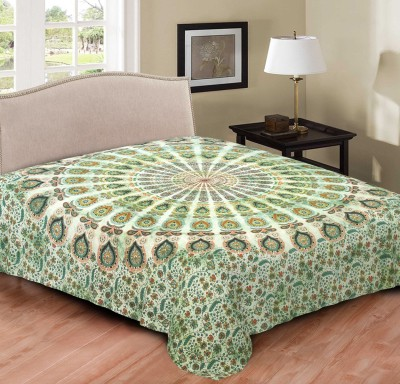 Hometexbazar Cotton 3D Printed Double Bedsheet