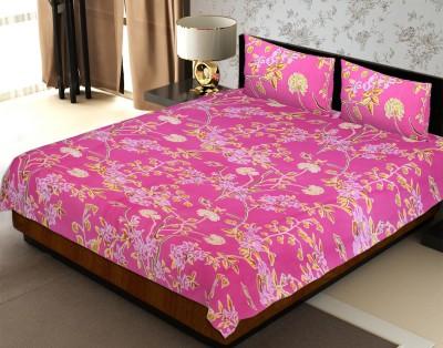 Jaipur Fabric Cotton Geometric Double Bedsheet