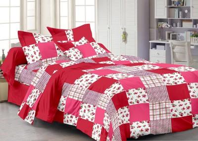 Queen Cotton Cotton Checkered Double Bedsheet