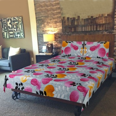 Kabeer Cotton Abstract Double Bedsheet