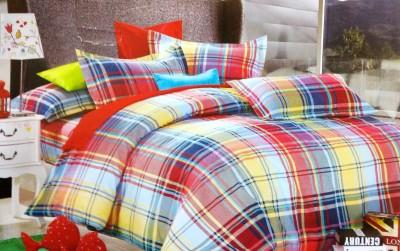 Maxx Home Polycotton Checkered Double Bedsheet