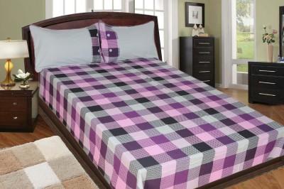 Adithya Cotton Checkered Double Bedsheet
