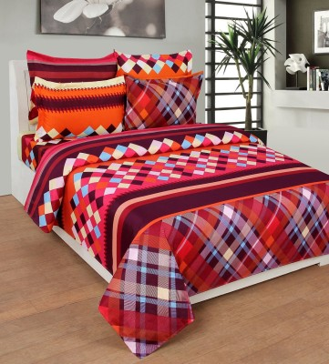 REDNHOT Cotton Floral King sized Double Bedsheet