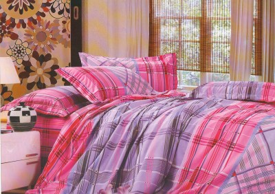 Vibrant Homze Cotton Checkered Double Bedsheet