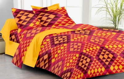 Lali Prints Cotton Checkered Double Bedsheet