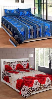 ROYAL SHRI OM Cotton Self Design Double Bedsheet