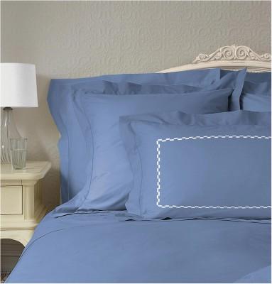 Welhome by Welspun Cotton Plain Double Bedsheet