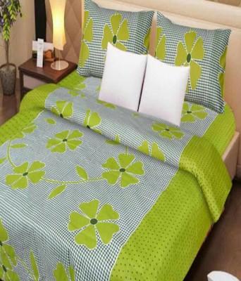 MR MACHROLI Cotton Abstract Bedsheet
