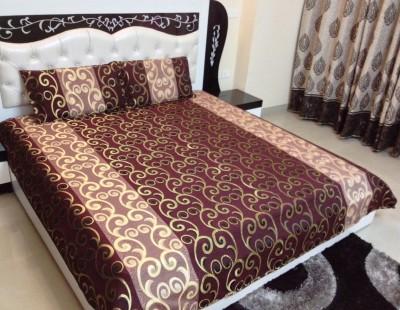 JMD Silk Floral Double Bedsheet