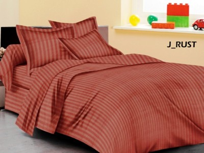 LEON Satin Self Design King sized Double Bedsheet