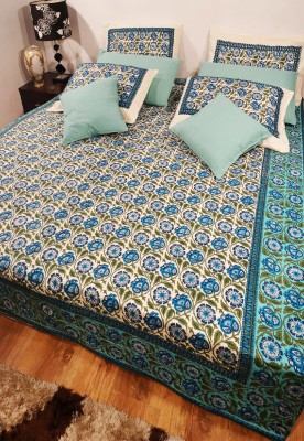 Heritagefabs Cotton Printed Double Bedsheet