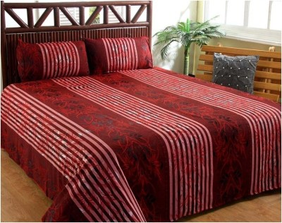 Denim Cotton Striped Double Bedsheet