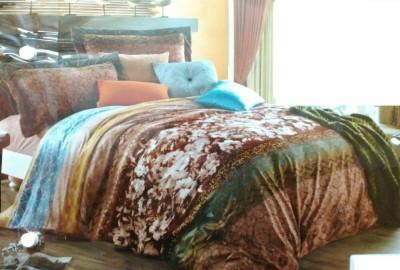 Ishi Creation Velvet Printed Double Bedsheet