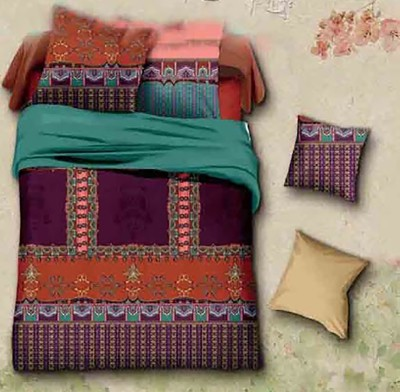 Kalash Druvis Cotton Abstract Queen sized Double Bedsheet