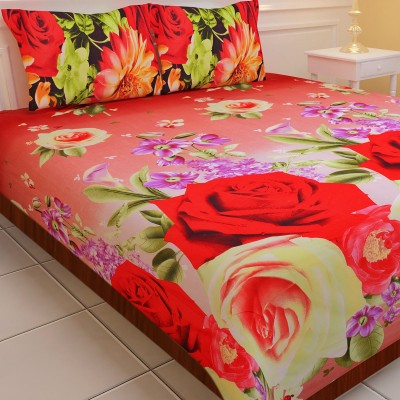SNS Polyester Printed Double Bedsheet