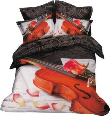 Aspire Inc Polycotton Abstract Double Bedsheet