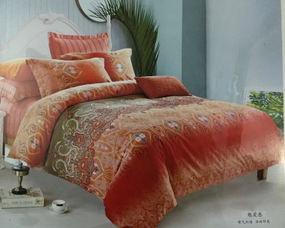 HanuEnterprises Polycotton Abstract Double Bedsheet