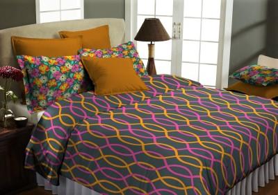 Home Bee USA Cotton Geometric Double Bedsheet