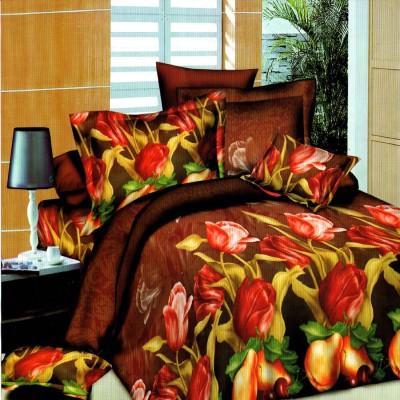 Wraps N Drapz Polycotton Floral Double Bedsheet