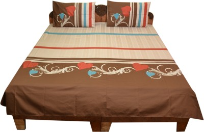 Bichawan Cotton Abstract Queen sized Double Bedsheet