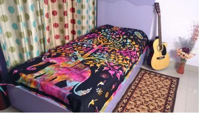 Ramabhakta Cotton Animal Single Bedsheet