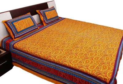RV COLLECTION Cotton Paisley Double Bedsheet