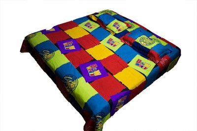 Neelam Traders Cotton Checkered Double Bedsheet