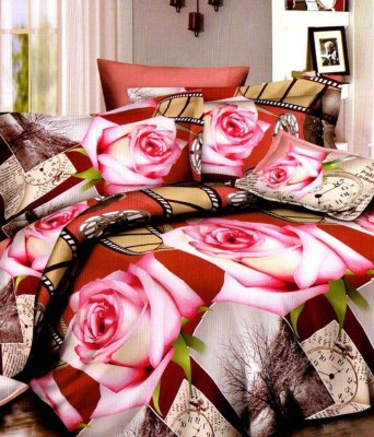 Pompe Polycotton Abstract Double Bedsheet