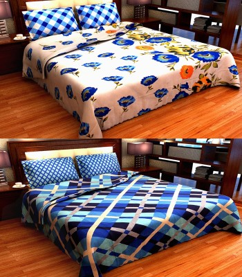D&D Cotton Self Design King sized Double Bedsheet