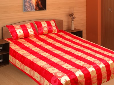 Furnishing Kingdom Polyester Abstract Double Bedsheet