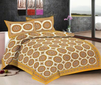 Viskar Fab Tex Cotton Printed Double Bedsheet