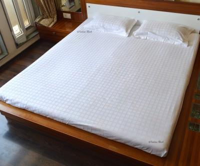 Indian Rack Cotton Self Design King sized Double Bedsheet