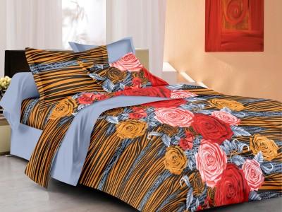 Elegancia Cotton Floral Double Bedsheet