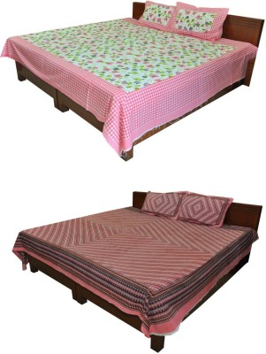 Cotton Abstract Queen sized Double Bedsheet