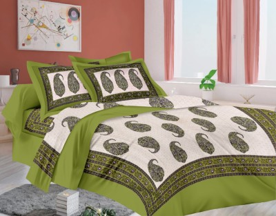 sokariya Cotton Printed Single Bedsheet