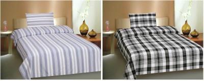 Ctm Textile Mills Polyester Printed Single Bedsheet