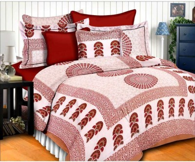 Furry Cotton Floral Queen sized Double Bedsheet