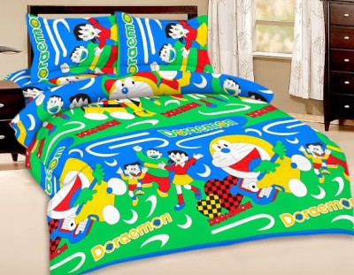 Buy Clues Cotton Abstract King sized Double Bedsheet
