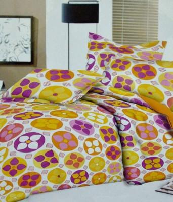 Classic Cotton Geometric Double Bedsheet