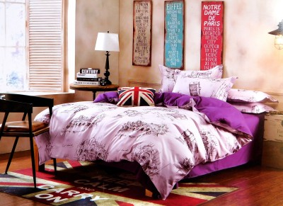 Indiano Polycotton Printed Double Bedsheet