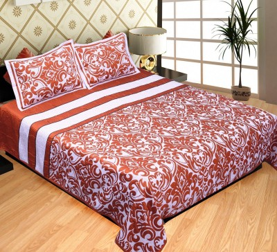 Natraj HL Cotton Linen Blend Abstract King sized Double Bedsheet