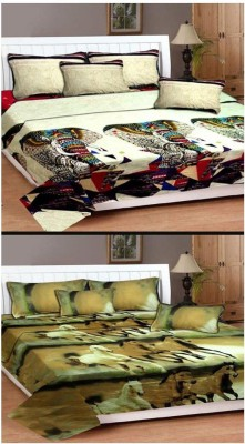 Vugis Polycotton Abstract Double Bedsheet