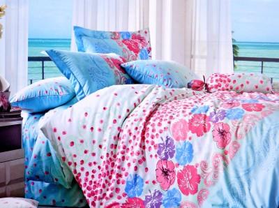 Hashcart Cotton Floral Double Bedsheet