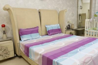 Sassoon Cotton Geometric Double Bedsheet