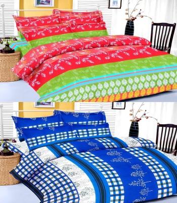 D&D Cotton Floral King sized Double Bedsheet