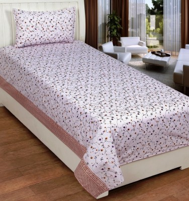 DHF Cotton Printed Single Bedsheet