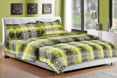Desirica Cotton Geometric Double Bedsheet