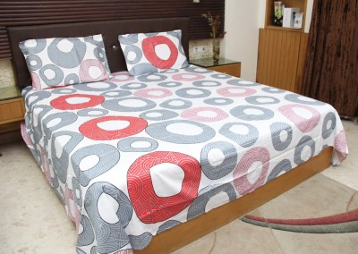 Steller Home USA Portico Cotton Geometric Double Bedsheet