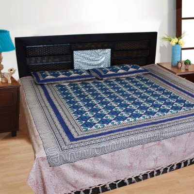 Bhavy Cotton Paisley Double Bedsheet